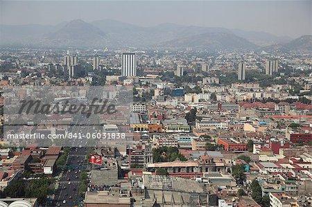 View over Mexico City Center, Mexico City, Mexico, North America