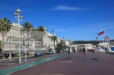 Promenade des Anglais, Nice, Alpes Maritimes, Cote d'Azur, French Riviera, Provence, France, Europe