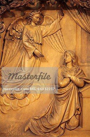 The Annunciation, church reredos, Sainte-Marie des Batignolles church, Paris, France, Europe