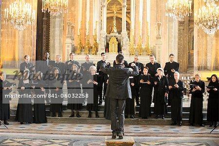 Choir in Saint-Eustache church, Paris, France, Europe