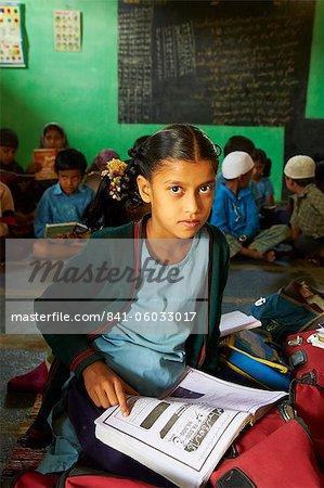 Primary school, Mysore, Karnataka, India, Asia
