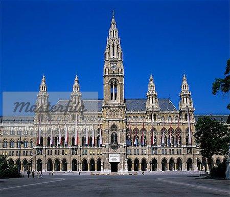 Rathaus (Gothic Town Hall), UNESCO World Heritage Site, Vienna, Austria, Europe