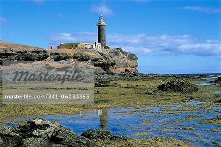 Lighthouse, Punta de Jandia, Fuerteventura, Canary Islands, Spain, Atlantic, Europe