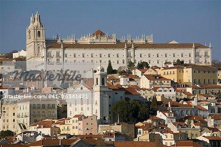 Santa Luzia church and Sao Vicente monastery, Lisbon, Portugal, Europe