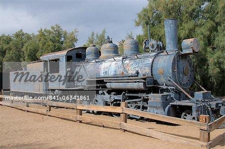 Old steam locomotive, Furnace Creek, Death Valley, California, United States of America, North America