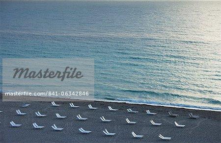 Empty beach, South Beach, Miami Beach, Florida, United States of America, North America