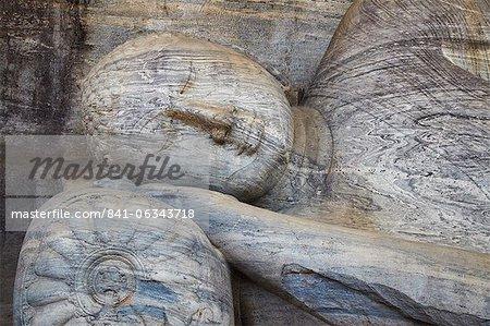 Reclining Buddha statue, Gal Vihara, Polonnaruwa, UNESCO World Heritage Site, North Central Province, Sri Lanka, Asia