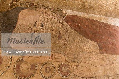 Murals, Sulamani Pahto, Bagan (Pagan), Myanmar (Burma), Asia