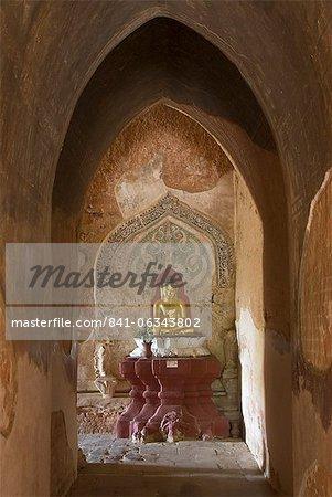 Seated Buddha, Sulamani Pahto, Bagan (Pagan), Myanmar (Burma), Asia