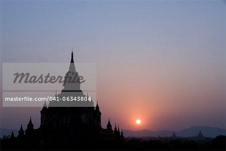 Sulamani Pahto at sunset, Bagan (Pagan), Myanmar (Burma), Asia