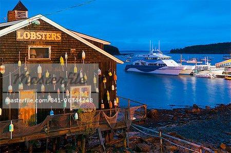 Lobster restaurant, Bar Harbor, Mount Desert Island, Maine, New England, United States of America, North America