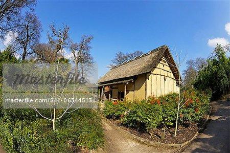 Japanese Minka House, Royal Botanic Gardens, Kew, UNESCO World Heritage Site, London, England, United Kingdom, Europe