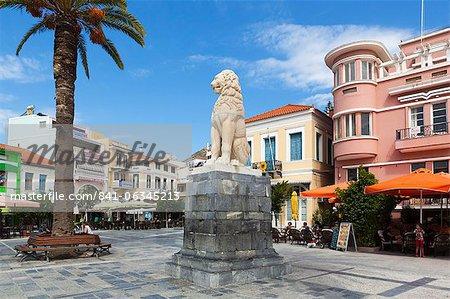 Lion Square, Samos Town, Samos, Aegean Islands, Greece