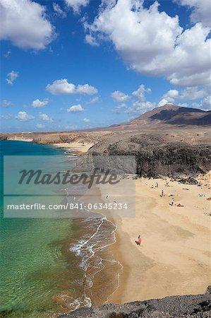 Playa del Papagayo, near Playa Blanca, Lanzarote, Canary Islands, Spain