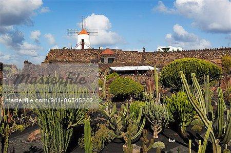 Jardin de Cactus (Cactus Garden), Guatiza, Lanzarote, Canary Islands, Spain
