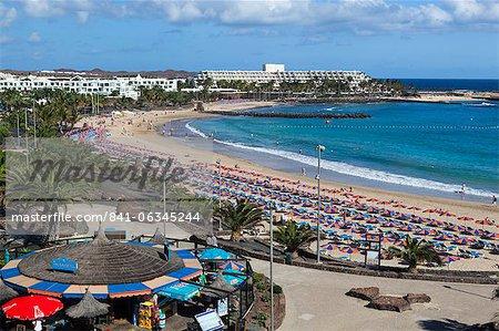 Playa de las Cucharas, Costa Teguise, Lanzarote, Canary Islands, Spain, Atlantic, Europe