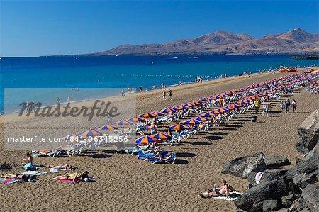 Playa Grande, Puerto del Carmen, Lanzarote, Canary Islands, Spain, Atlantic, Europe