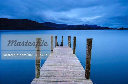 Dawn at Ashness Jetty, Barrow Bay, Derwent Water, near Keswick, Lake District National Park, Cumbria, England