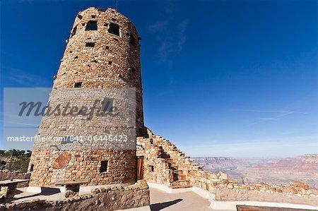 Desert View Watchtower, Grand Canyon National Park, UNESCO World Heritage Site, Northern Arizona, United States of America, North America