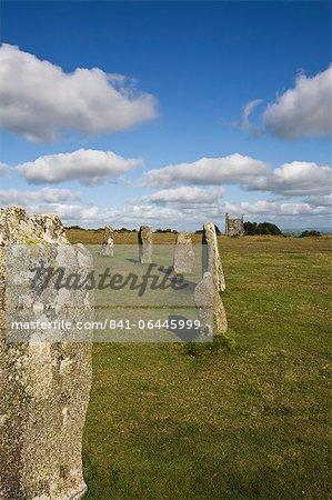 The Hurlers (stone circle), Minions, Bodmin Moor, Cornwall, England, United Kingdom, Europe