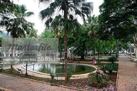 Pond in Praca Gomes Freire, Mariana, Minas Gerais, Brazil, South America
