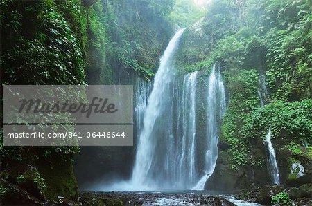 Air Terjun Tiu Kelep waterfall, Senaru, Lombok, Indonesia, Southeast Asia, Asia