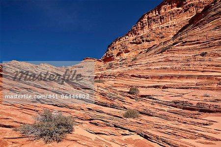 Sandstone layers, Vermillion Cliffs National Monument, Arizona, United States of America, North America