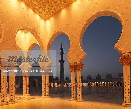 Sheikh Zayed Mosque, Abu Dhabi, United Arab Emirates, Middle East