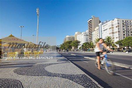 Avenida Atlantica, Copacabana, Rio de Janeiro, Brazil, South America