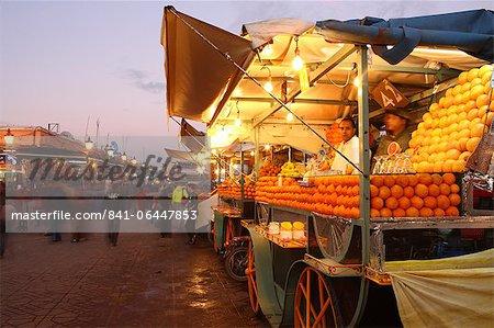 Orange juice seller, Djemaa el Fna, Marrakech, Morocco, North Africa, Africa