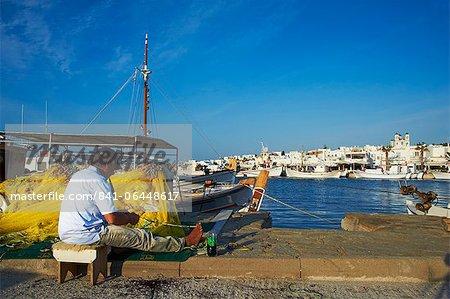 Port, Naoussa, Paros, Cyclades, Aegean, Greek Islands, Greece, Europe
