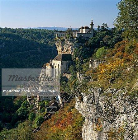 Autumnal view, Rocamadour, Lot, Midi-Pyrenees, France, Europe
