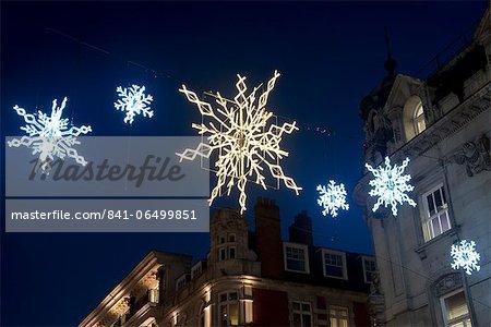 Christmas lights on Bond Street, London, England, United Kingdom, Europe