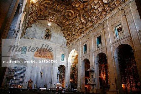 Interior of Catedral Basilica on Terreiro de Jesus Square, Salvador (Salvador de Bahia), Bahia, Brazil, South America