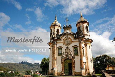 Sao Francisco de Assis church, Ouro Preto, UNESCO World Heritage Site, Minas Gerais, Brazil, South America