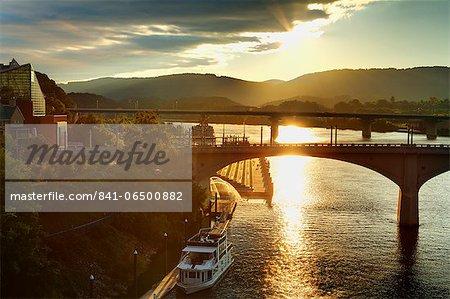 Market Street Bridge, Chattanooga, Tennessee, United States of America, North America