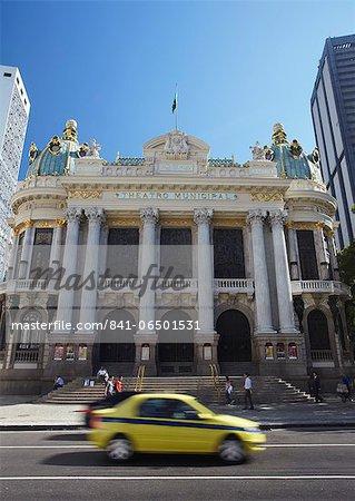 Theatro Municipal (Municipal Theatre) in Praca Floriano (Floriano Square), Centro, Rio de Janeiro, Brazil, South America