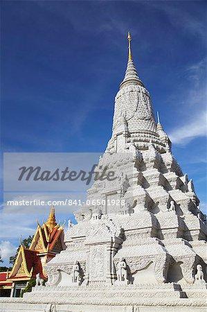Stupa at Silver Pagoda in Royal Palace, Phnom Penh, Cambodia, Indochina, Southeast Asia, Asia