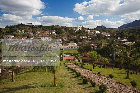 View of Tiradentes, Minas Gerais, Brazil, South America