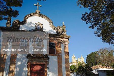 Our Lady Rosario dos Pretos and Matriz de Santo Antonio churches, Tiradentes, Minas Gerais, Brazil, South America