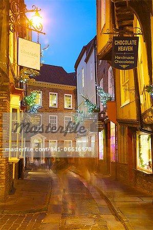The Shambles at Christmas, York, Yorkshire, England, United Kingdom, Europe