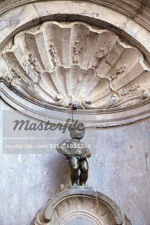 Mannekin Pis, Brussels, Belgium, Europe