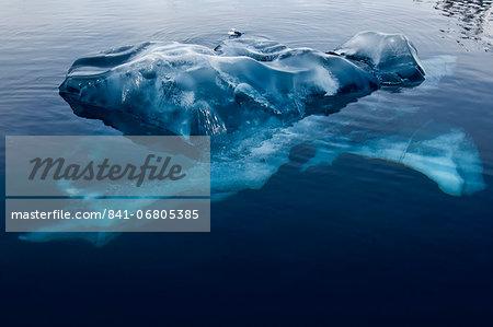 Black ice, Bahia Paraiso (Paradise Bay), Antarctic Peninsula, Antarctica, Polar Regions
