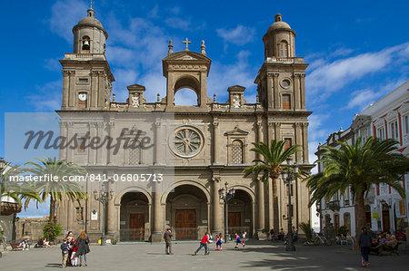 Cathedral and Plaza Santa Ana, Las Palmas, Canary Islands, Spain, Europe
