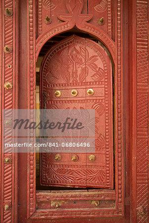 Old traditional door, Wadi Bani Khalid, Oman, Middle East