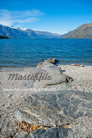 Lake Wakatipu at Queenstown, Otago, South Island, New Zealand, Pacific