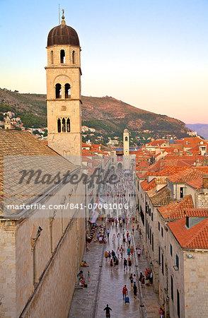 Franciscan Monastery and Stradun, Old city, UNESCO World Heritage Site, Dubrovnik, Croatia, Europe
