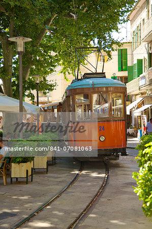 Tram, Soller, Mallorca, Spain, Europe