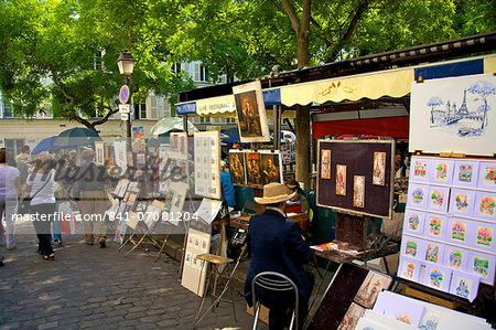 Artists' Market, Montmartre, Paris, France, Europe