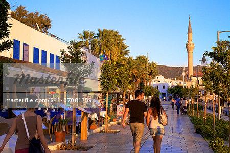Promenade, Bodrum, Anatolia, Turkey, Asia Minor, Eurasia